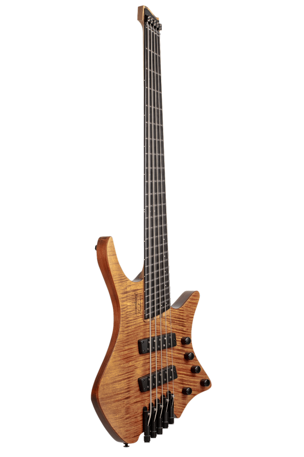 Headless Boden 4-string bass Prog Brown