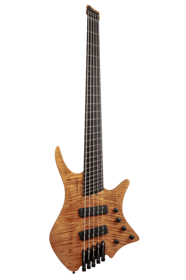 Headless Boden 5-string bass Prog Brown