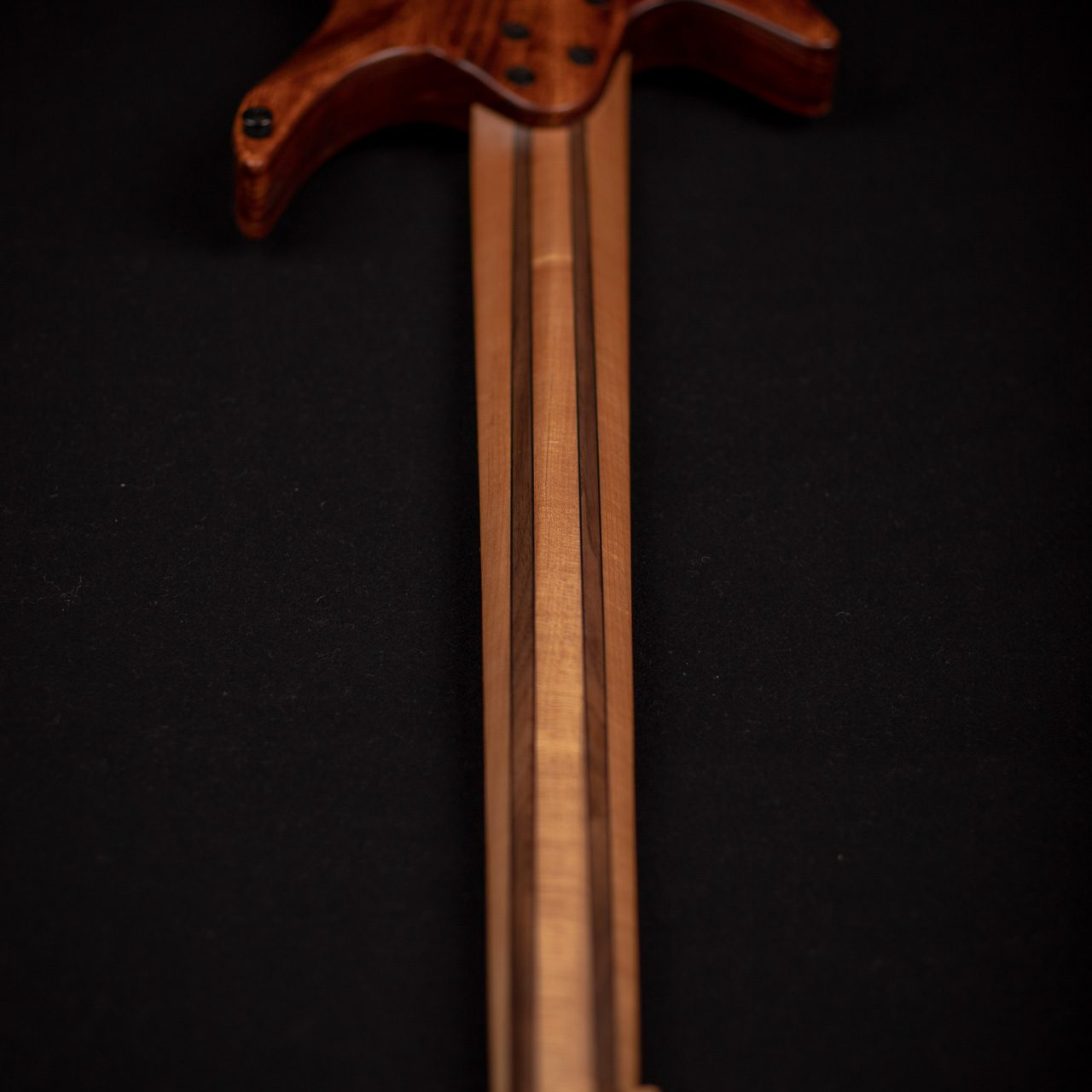 Headless boden BASS 5 string brown back view