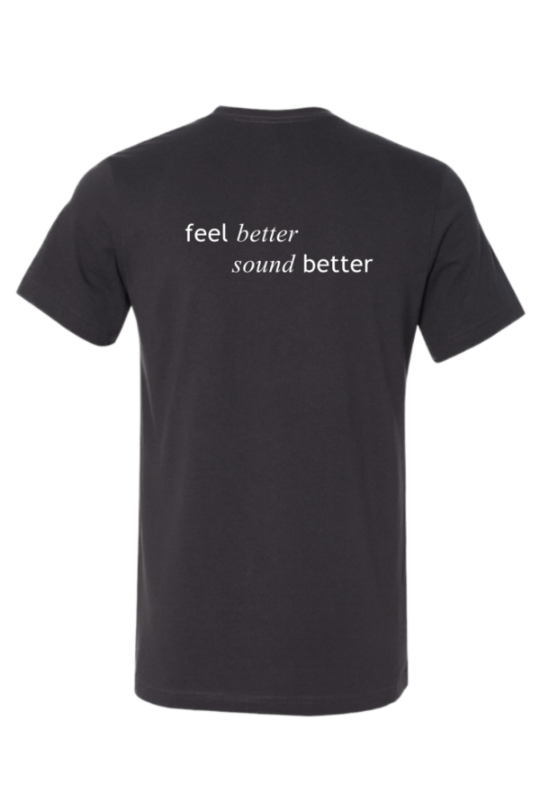 feel better sound better t-shirt headless guitar