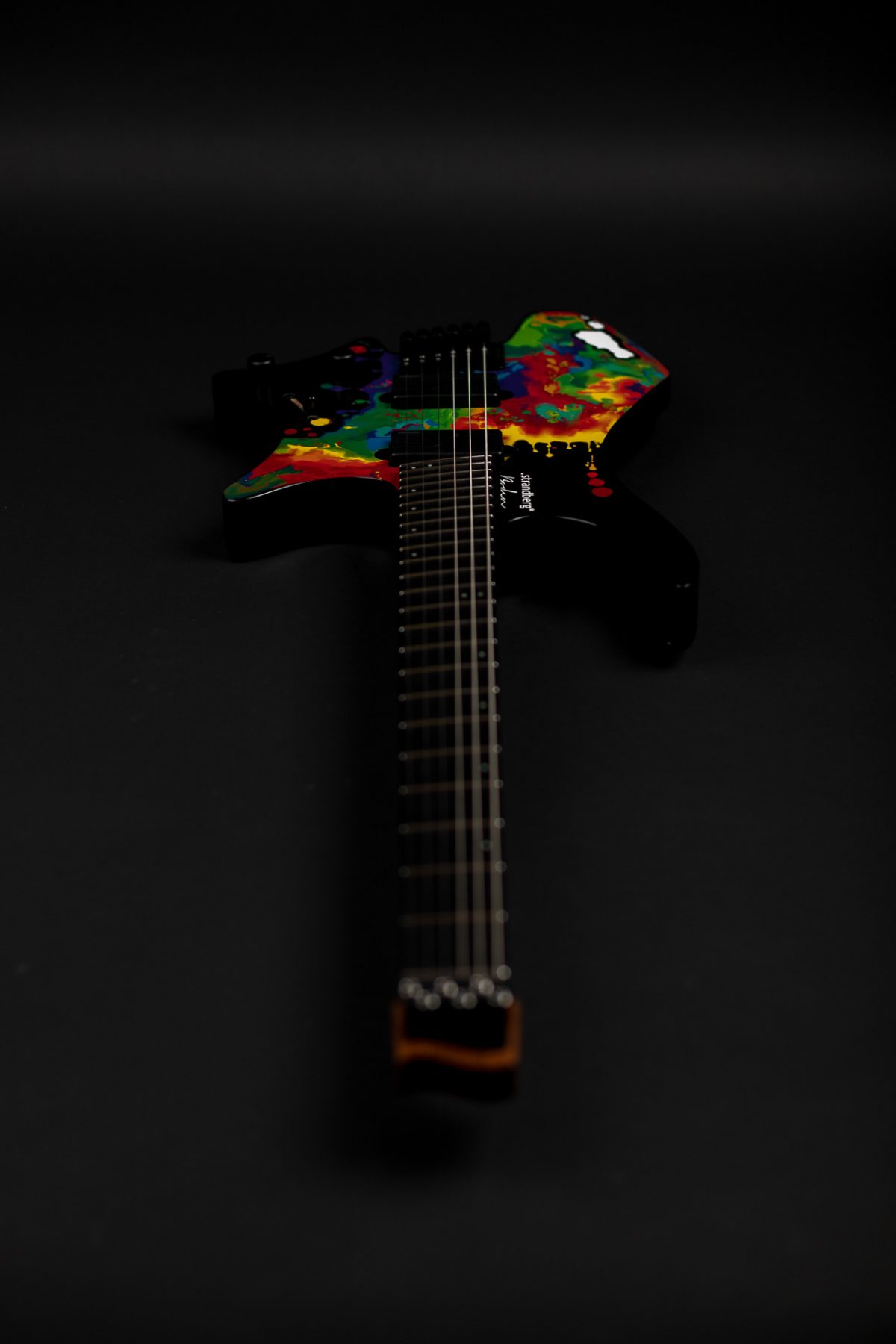Sara Longfield 6 string headless guitar front view