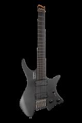 Headless guitar boden metal black 7 string front view