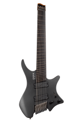 Headless guitar boden metal black 8 string multiscale front view
