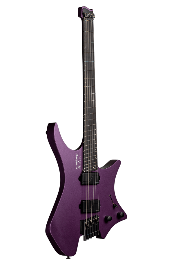 Headless Guitar Boden Metal purple front view