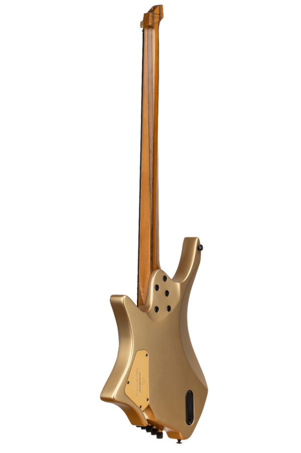 Boden Bass 5 string limited edition headless guitar gold back view