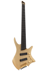 Boden Bass 5string limited edition headless guitar gold front view