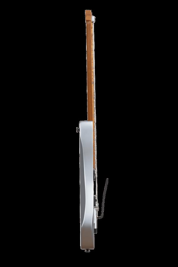 Headless Guitars Boden Prog 6 Ebony 10th anniversary model silver side view