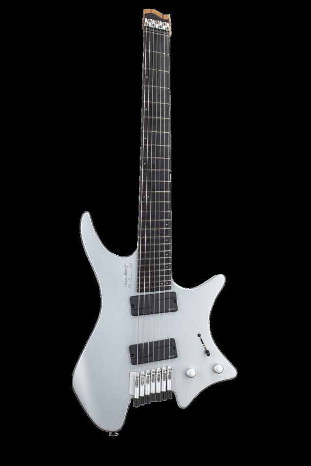 Headless Guitars Boden Prog 7 Ebony 10th anniversary model silver front view