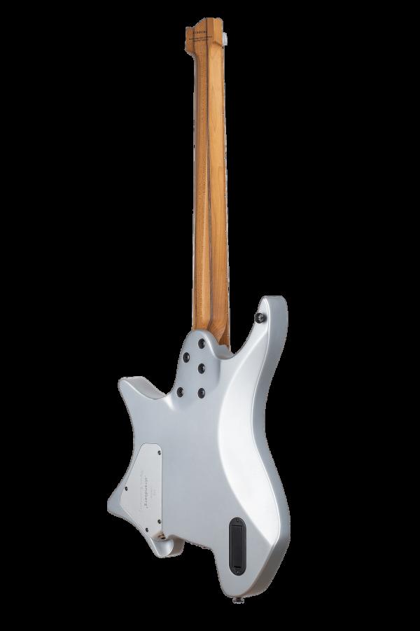 Headless Guitars Boden Prog 7 Ebony 10th anniversary model silver back view