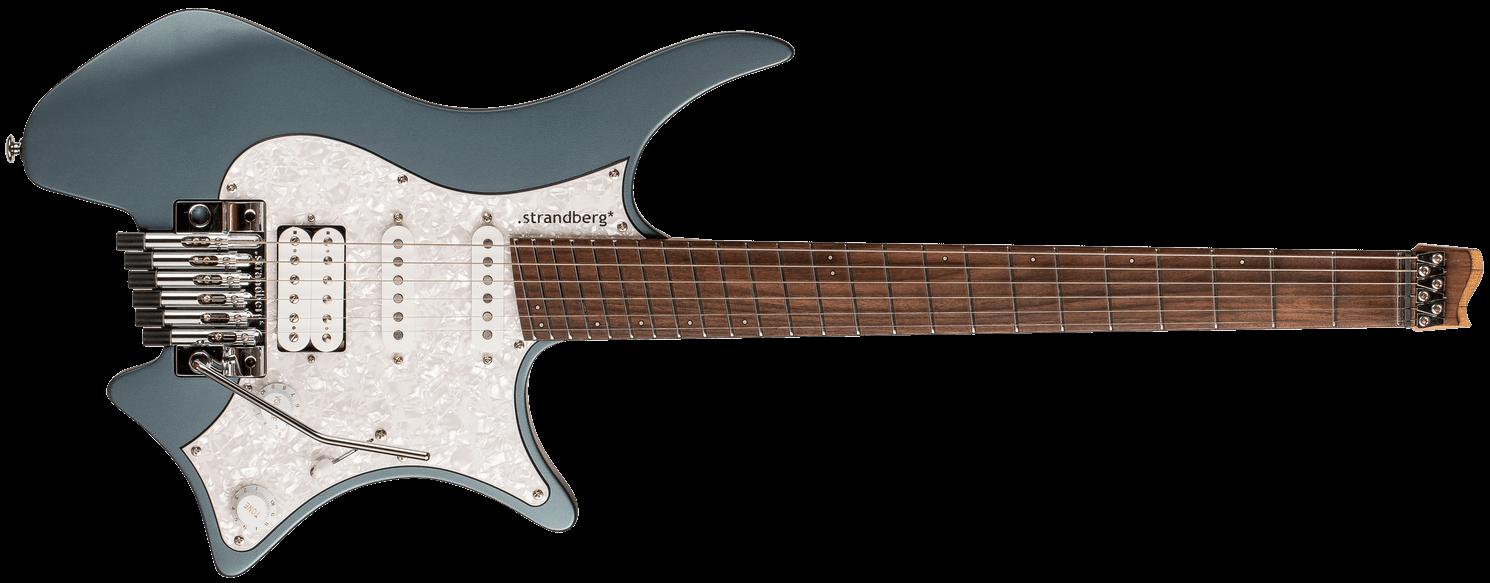 Classic 6 trem malta blue Headless guitar
