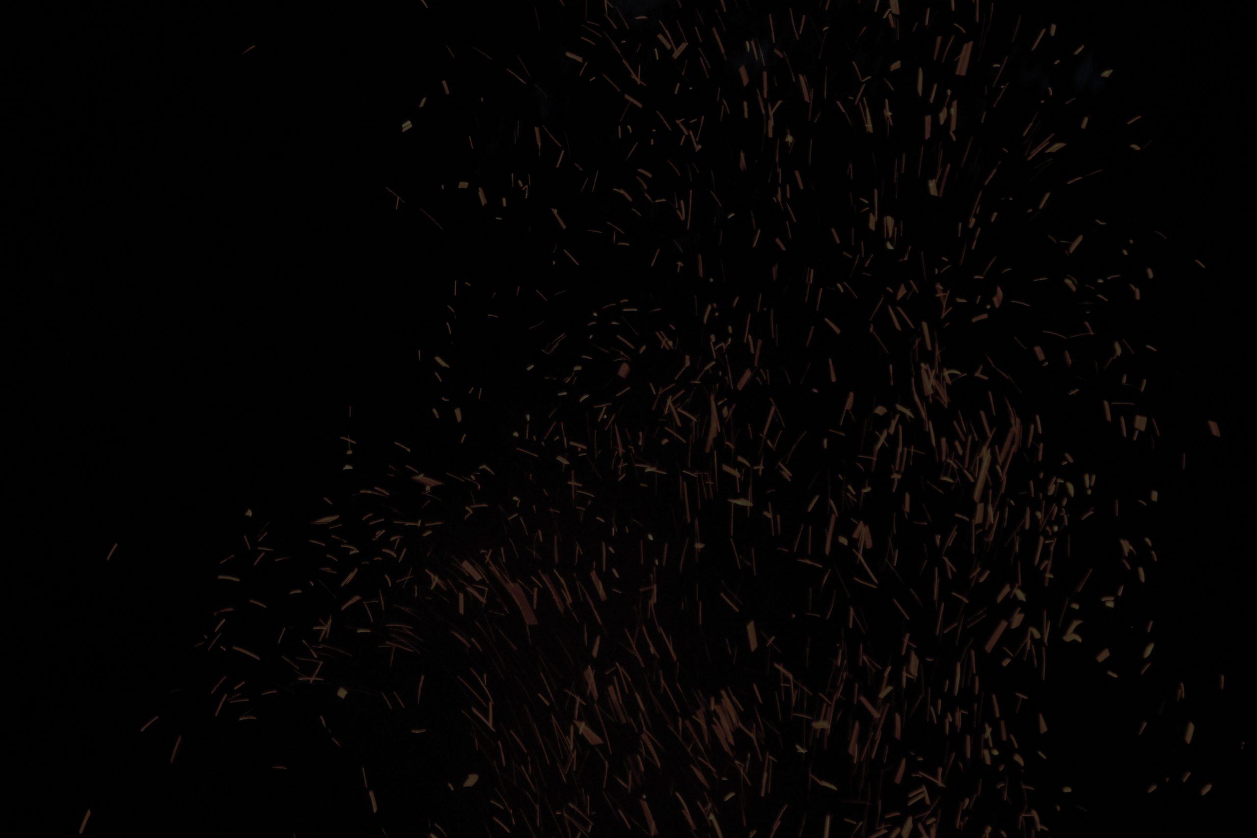 Background black headless guitars